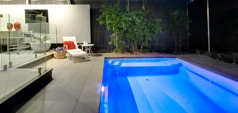 Composite Pool Solutions Variety of plunge pool colours and shapes make them a popular choice