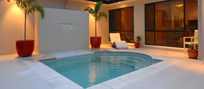 Composite Pool Solutions Fibreglass plunge pool for smaller backyard