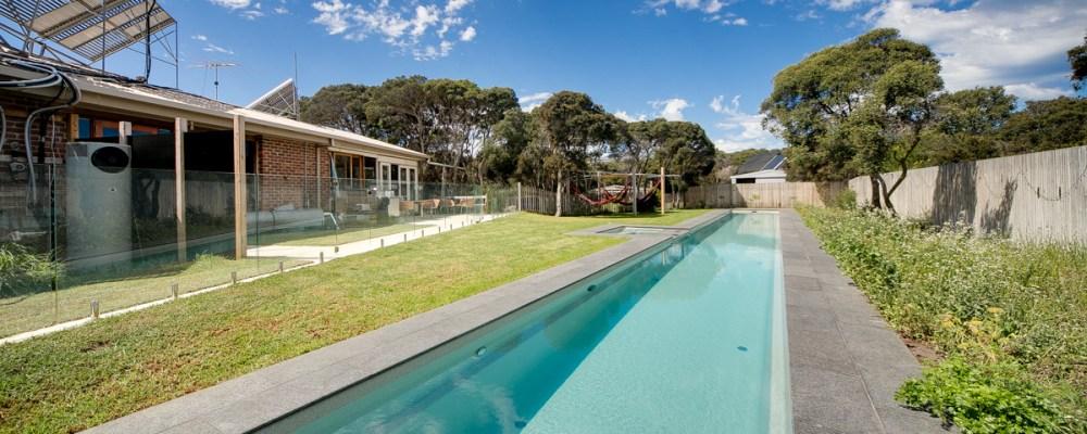 Swim laps in your custom length Fastlane fibreglass pool