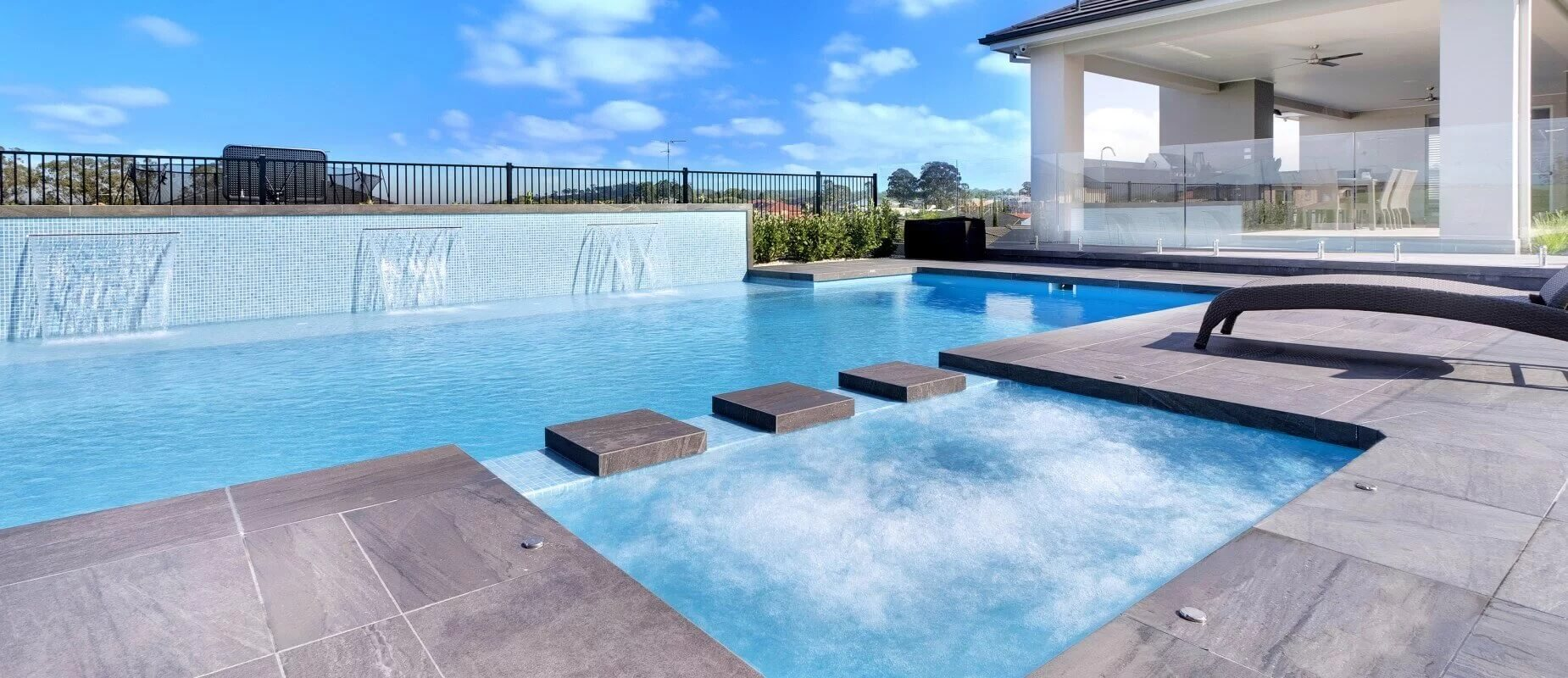 Composite Pool Solutions Pool water features